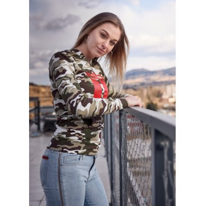 Mikina  DOUBLE RED  Sweatshirt All Logo Green Camo
