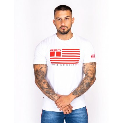 Tričko  DOUBLE RED  United Cartels Of Red UCR T-shirt White