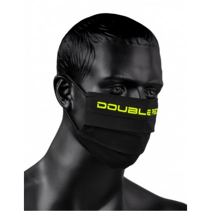 DOUBLE RED  MASK Black/Neon Yellow
