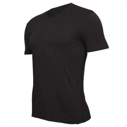 Pánske tričko V-neck Black