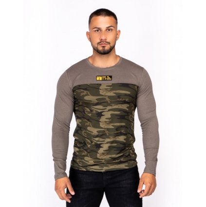 Tričko  DOUBLE RED  KUNG-FU MASTER™ Long Sleeve Camo Green Edition