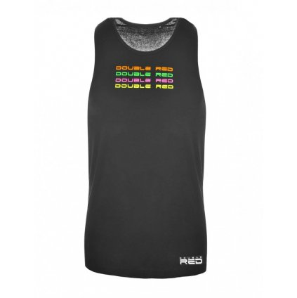 DOUBLE RED  Top Tank Neon Street Collection Black