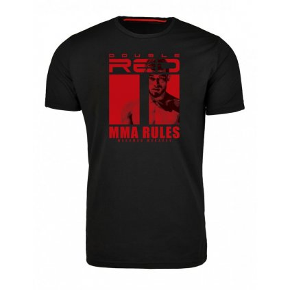 Tričko  DOUBLE RED  T-Shirt MMA RULES MAKHMUD MURADOV Black