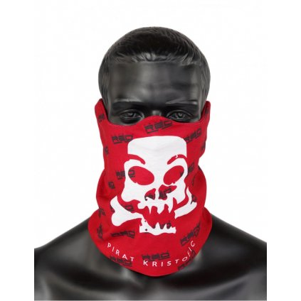 DOUBLE RED  PIRAT Snood Red