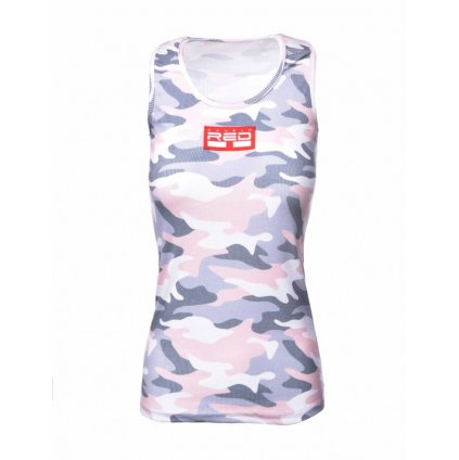 DOUBLE RED  Tank Sportisyourgang Camo 3d Logo