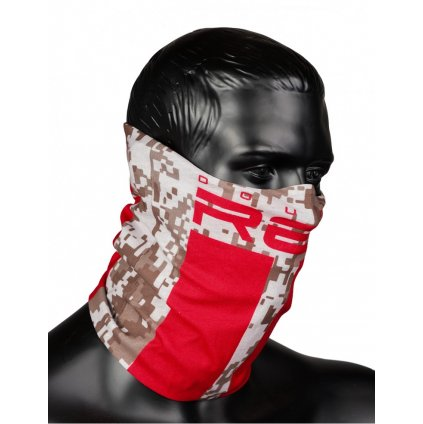DOUBLE RED  RED SQUAD Snood Digital Camo