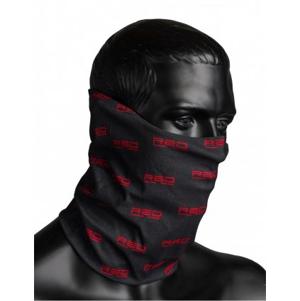 DOUBLE RED  RED SQUAD Snood Full Logo Black