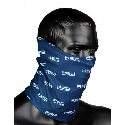 DOUBLE RED  RED SQUAD Snood Full Logo Blue