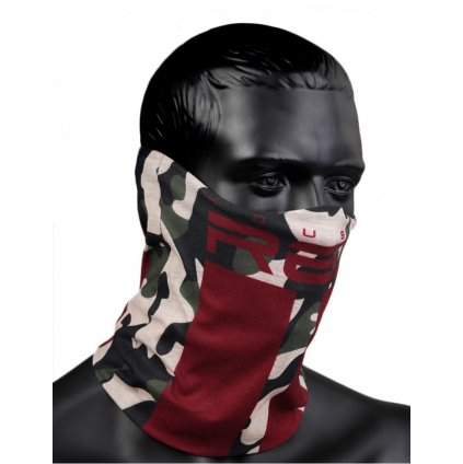 DOUBLE RED  RED SQUAD Snood Green Camo