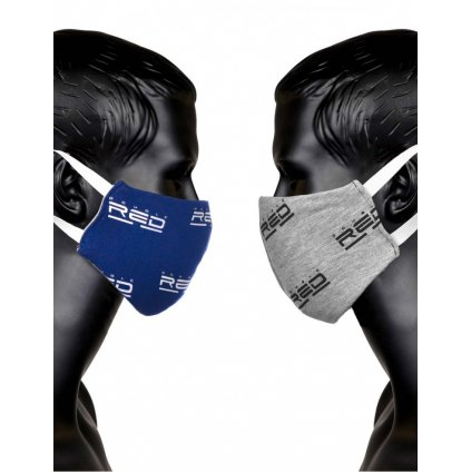 DOUBLE RED  MASK DOUBLE FACE Blue/Grey