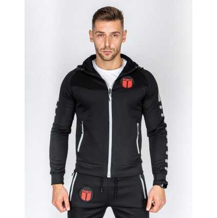 DOUBLE RED  REFLEXERO™ SPORT IS YOUR GANG™ Tracksuit Black/Sliver