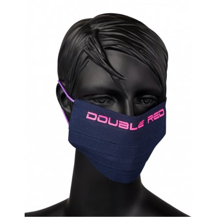DOUBLE RED  MASK Blue/Neon Violet