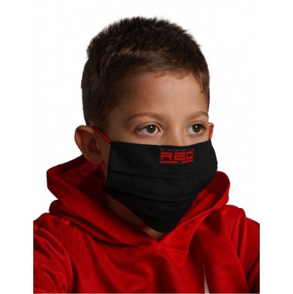 DOUBLE RED  MASK Kids Black
