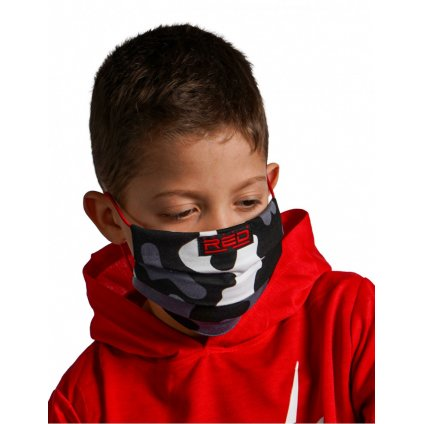 DOUBLE RED  MASK Kids BW Camo