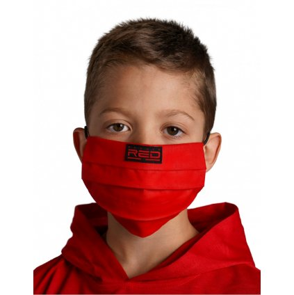 DOUBLE RED  MASK Kids Red