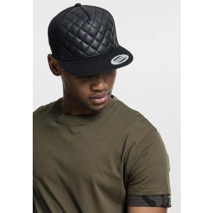 Šiltovka  Diamond Quilted Snapback black