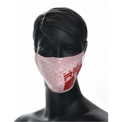 DOUBLE RED  MASK Elegance Trademark Pink/Red
