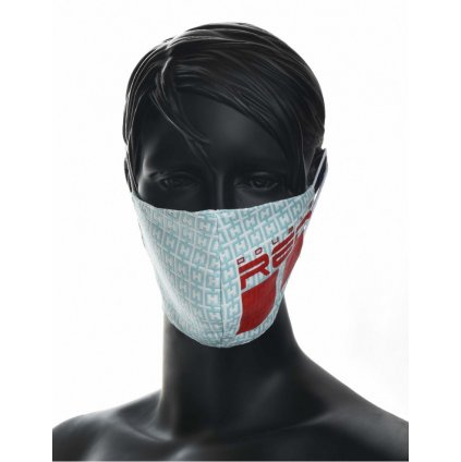 DOUBLE RED  MASK Elegance Trademark Turquoise/Red