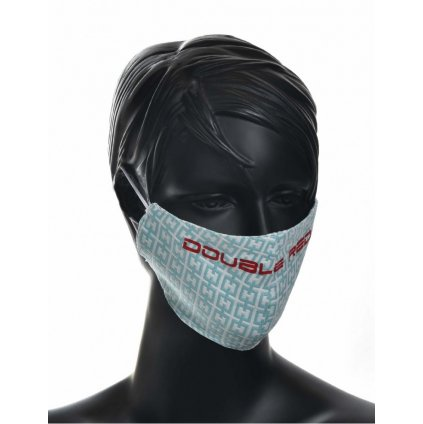 DOUBLE RED  MASK Elegance Turquoise/Red