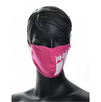DOUBLE RED  MASK Trademark Pink/White