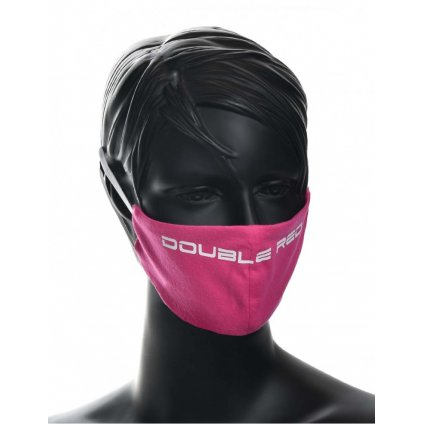 DOUBLE RED  MASK Pink/White