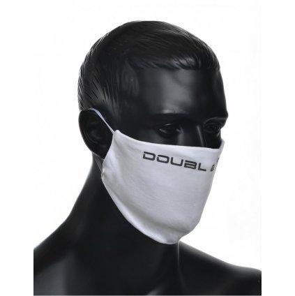 DOUBLE RED  MASK White/Black