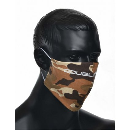 DOUBLE RED  MASK Soldier White Logo