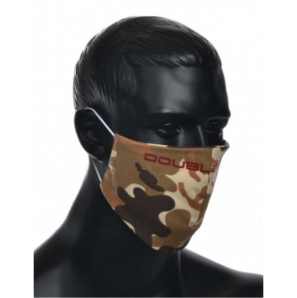 DOUBLE RED  MASK Soldier Red Logo