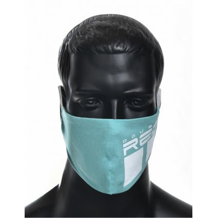 DOUBLE RED  MASK Trademark Turquoise/White