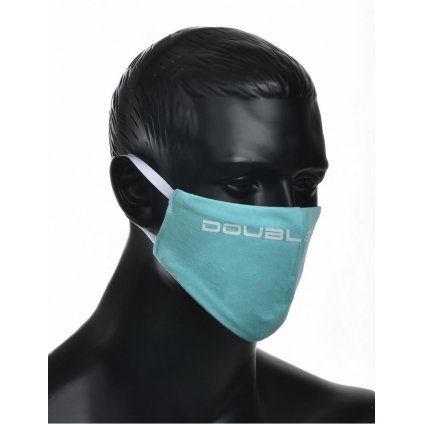 DOUBLE RED  MASK Turquoise/White