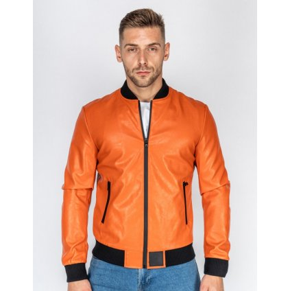 Bunda  DOUBLE RED  SOPRANO Leather Jacket Orange