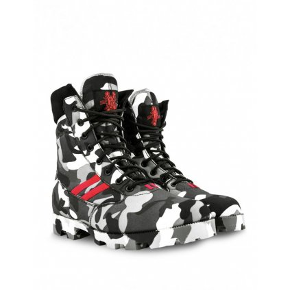DOUBLE RED  Boots B&W PIRAT ARMY