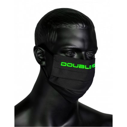 DOUBLE RED  MASK Black/Neon Green
