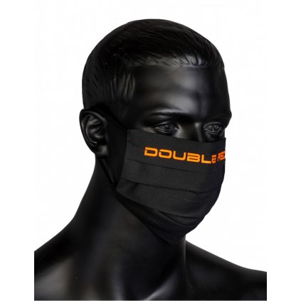 DOUBLE RED  MASK Black/Neon Orange