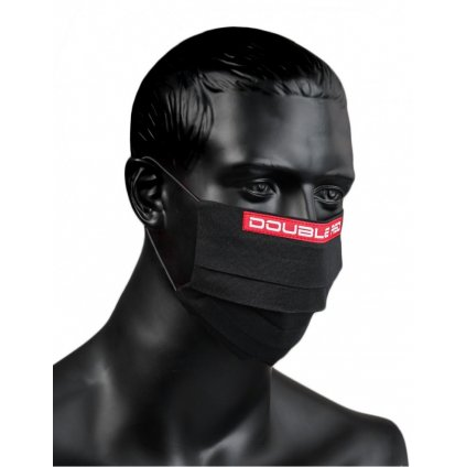 DOUBLE RED  MASK Black/Red