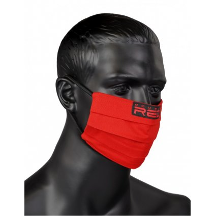 DOUBLE RED  MASK Red