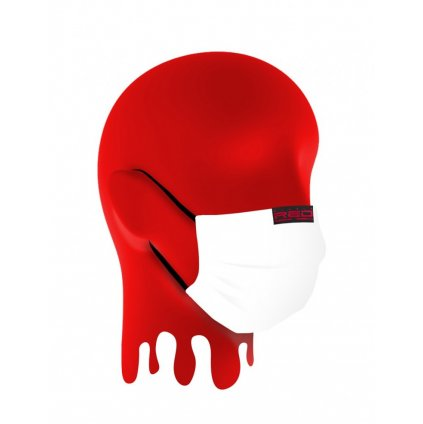 DOUBLE RED  MASK White