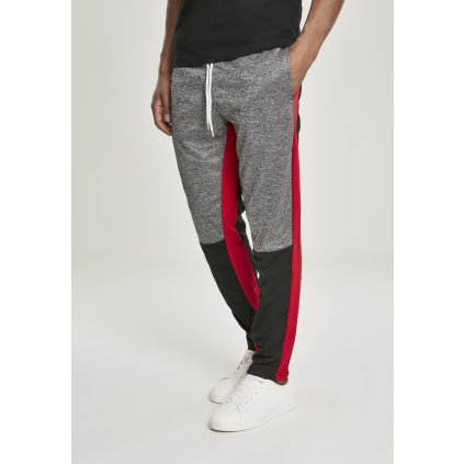 Tepláky  Color Block Marled Track Pants black