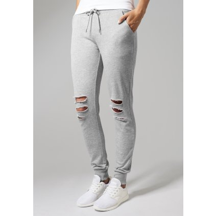 Tepláky  Ladies Cutted Terry Pants grey