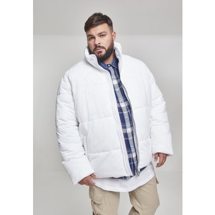 Bunda  Boxy Puffer Jacket white