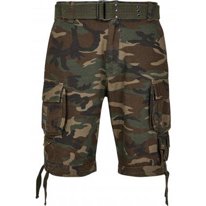 Krátke nohavice  Savage Vintage Cargo Shorts olive camo