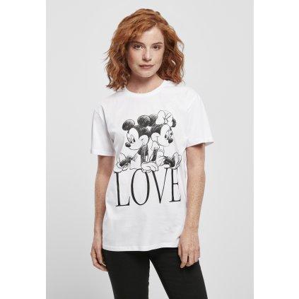 Dámske tričko  Ladies Minnie Loves Mickey Tee white