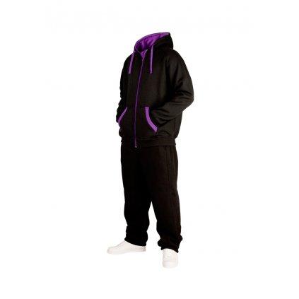 Tepláková súprava  Contrast Sweatsuit blk/pur