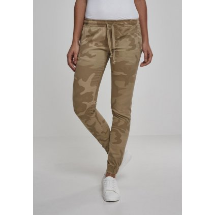 Tepláky  Ladies Camo Jogging Pants sand camo
