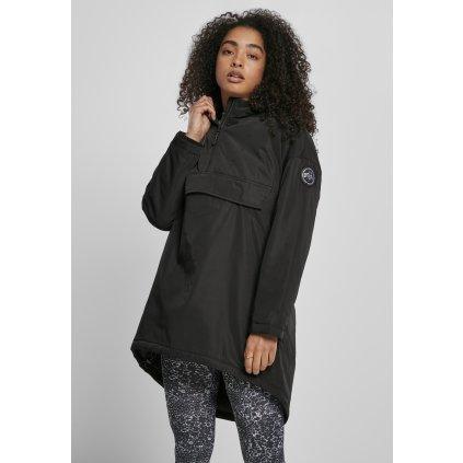 Bunda  Ladies Long Oversized Pull Over Jacket black