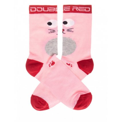 DOUBLE RED  DOUBLE FUN Socks Pussy Cat