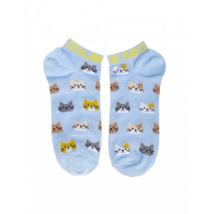DOUBLE RED  DOUBLE FUN Socks Unhappy Cats