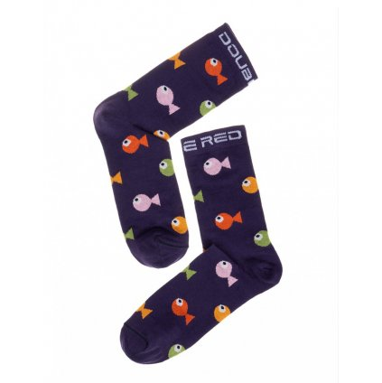 DOUBLE RED  DOUBLE FUN Socks Crazy Fish