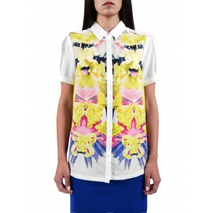 DOUBLE RED  SELEPCENY FLORAL SHIRT