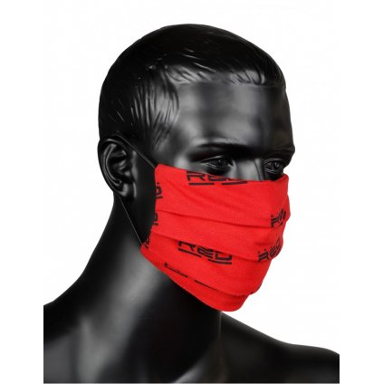 DOUBLE RED  MASK Full Logo Red